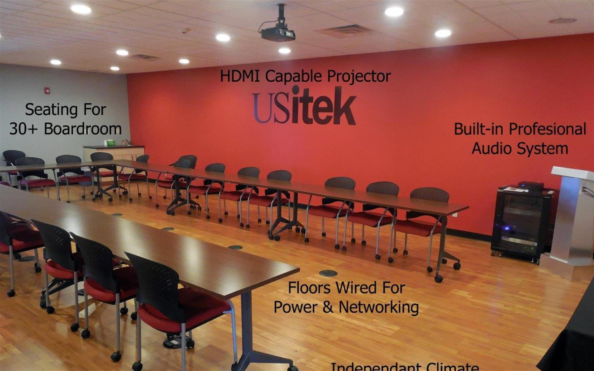 US itek, Inc. - Space to Rent - Conference room accomodating up to 32