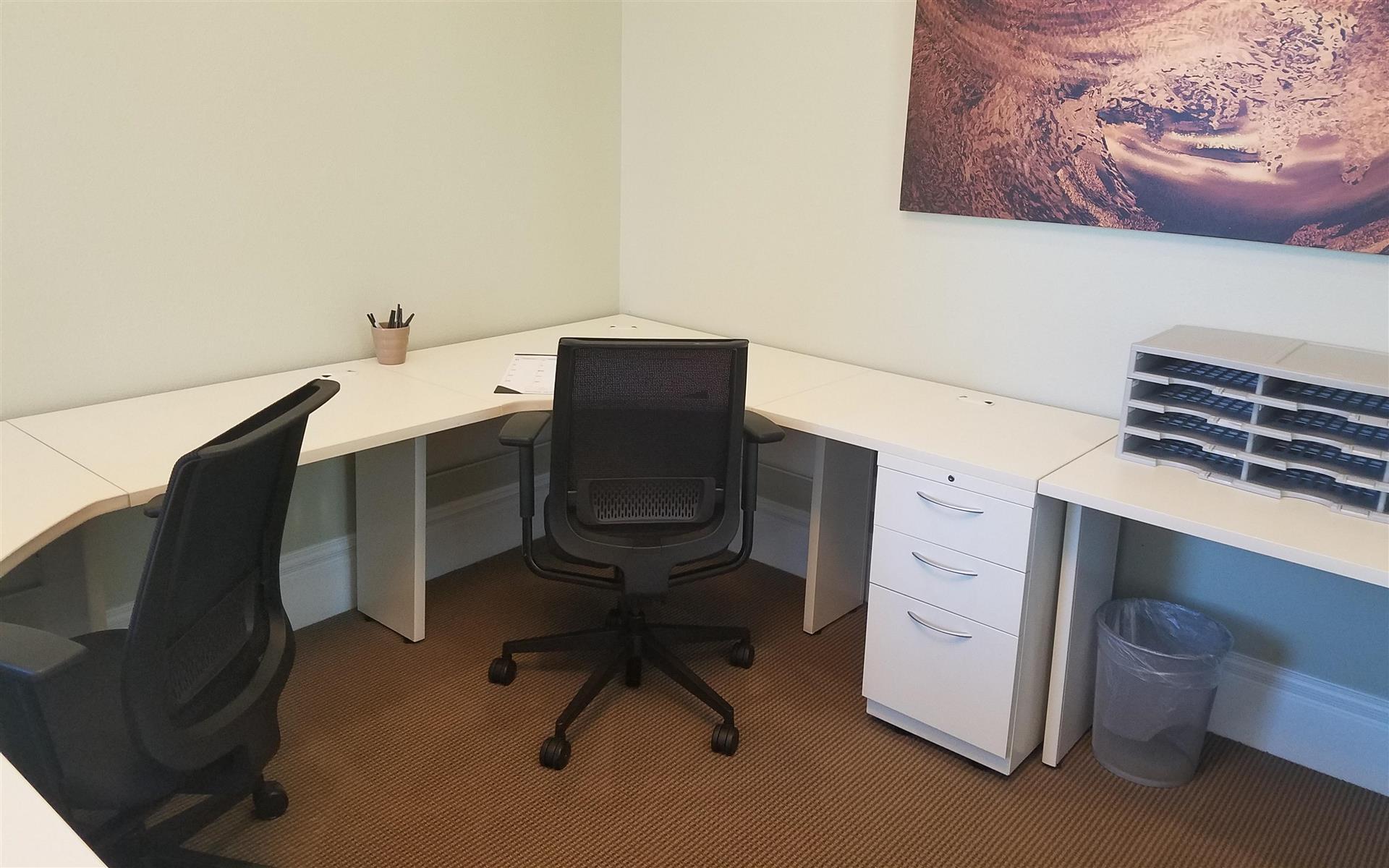 Victory Workspace Danville - Dedicated Desk B in the Green Room